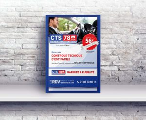 46792683 – blank poster mock up as copy space, graphic design background